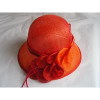 sinamay hat lady red FTC13-25