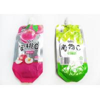 Buy cheap Custom Printed Stand Up Spout Pouch Heat Sealing For Juice Or Jelly from wholesalers