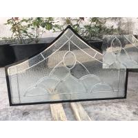 Float Tempered Decorative Panel Glass For Architectural Door Flat Edge