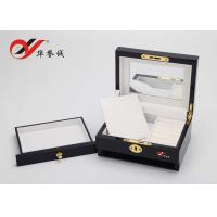 Beautiful Color Handmade Wooden Jewelry Box With Drawers / Lock Color Customized