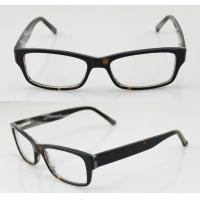 Buy cheap Hand Made Black / Brown Cool Acetate Mens Eyeglasses Frames For Promotion product