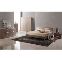Buy cheap Low Back Headboard Bed Melamine Bedroom Furniture With Big Dresser / Wardrobe from wholesalers