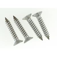 Buy cheap AISI 316 Stainless Steel Cross Recessed Flat Head Screw Self Tapping 6 X 35mm from wholesalers