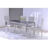 Buy cheap Contemporary Glass Custom Made Dining Tables with Chairs for Formal Occasions from wholesalers