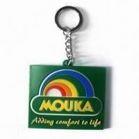Buy cheap Rubber Keychain for Promotional Gifts, Available in Various Sizes and Colors product
