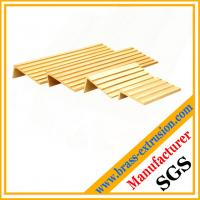 Buy cheap Brass stair nosing profile, Brass stair trims extrusion profiles from wholesalers