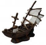Buy cheap sunk boat,resin ornament,resin craft,resin aquarium ornament from wholesalers