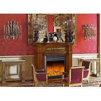 Buy cheap Enegy Saving Deco Flame European Electric Fireplace , Solid Wood Fireplaces from wholesalers