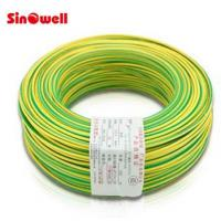 Buy cheap Copper Conductor Stranded Electric Wire Cable , Green Yellow Ground Wire 100 m / roll from wholesalers