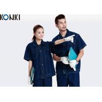 Buy cheap Denim Fabric Short Sleeve Custom Work Uniform Durable Uniform For Workers from wholesalers