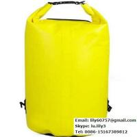 Buy cheap 45L orange waterproof pvc tarpaulin dry duffle bag from wholesalers