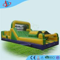 Buy cheap Green Inflatable Assault Course Schools Sports Games For Children from wholesalers