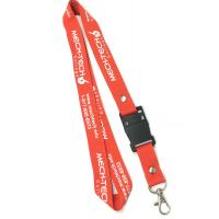 Buy cheap Office Promtional Polyester Custom Id Lanyards , White Logo Id Card Holder Neck Strap from wholesalers