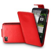 Buy cheap Red BlackBerry Z10 Leather Flip Cover Shock Proof Mobile Phone Protection Case from wholesalers