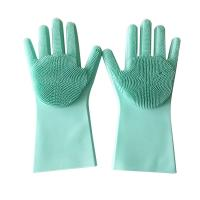 Buy cheap Heat-resistant Dishes Cleaner Non-toxic Silicone Washing Gloves from wholesalers