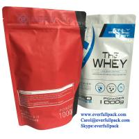 Buy cheap Custom Printed Zipper Stand Up Food Grade Nutritional Supplement Packaging Whey Protein Powder Doypack Stand Up Bag from wholesalers