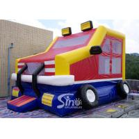 Buy cheap Custom made outdoor kids truck inflatable bounce house made of lead free pvc tarpaulin from China inflatable factory from wholesalers