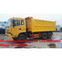 Buy cheap 2018s high quality and best price Dongfeng 6*4 LHD 20cbm diesel  dump tipper truck for Djibouti, C from wholesalers