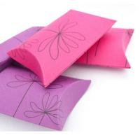 Buy cheap Pillow Paper Card Chocolate Packing For Gift Packaging Cartons Hot Foil Stamping from wholesalers