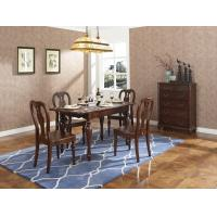 Buy cheap Rubber Wood Home dining room furniture Long and round dining table with 4/6 from wholesalers
