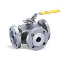 Buy cheap Flange Type Hand Manual 3 Three Way Stainless Steel Ball Valve L Port T Port from wholesalers