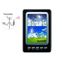 Buy cheap Colorful Weather Station Rain Pressure Wind Speed Direction Weather Center Solar Power Temperature Humidity MS1030C from wholesalers