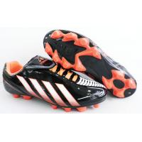 Buy cheap Men Rubber Sole Outdoor Soccer Cleats , Football Shoes With Red / Yellow from wholesalers