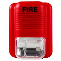 Buy cheap DC12-24V Red Sound And Light Fire Alarm Warning Strobe Siren Horn Alert Safety System Sensor For Warehouse Hotel School from wholesalers