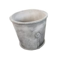 Buy cheap Hot selling high quality grey surface round planter pots for garden decorations from wholesalers