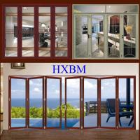 China Water Resistant Aluminium Doors With Wooden Finish With Wide Openings on sale