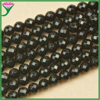 Buy cheap cheap price 10mm loose natural faceted round black agate beads for make necklaces from wholesalers