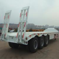 Buy cheap Low bed trailer with 3 axles low boy trailer price FUWA axle from wholesalers
