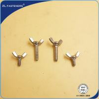 Buy cheap Galvanized Steel Hex Bolt Full Thread Wing Screws Fasteners Cold Forging Bright Zinc from wholesalers