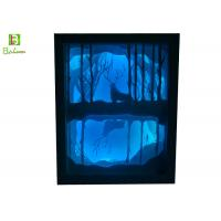 Buy cheap Drawing  Backlit Paper Cut Box  LED system  Polystyrene Deep Woods Deer product