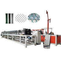 Buy cheap 1.8mm Wire Diameter 5.5kw Diamond Automatic Chain Link Fence Machine from wholesalers