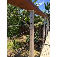 Buy cheap Cable infill Wire cable railing with wooden top handrail for balcony/ staircase product