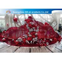 Buy cheap Red And Silver Inflatable Air Mirror Ball Airtight Customize Size product