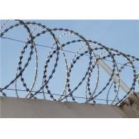 Buy cheap BTO -22 450mm Galvanized Concertina Razor Barbed Wire Razor Blade Fencing from wholesalers