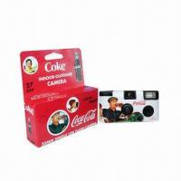China Disposable Camera with Flash, Pre-loaded and European Color Film on sale
