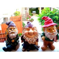 Buy cheap Mini Polyresin Lady Garden Gnome with evergreen hat for planter, terrarium, shelf, or window sill product