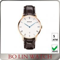Buy cheap Clean Simple Minimalist Mens Watches , Faux Leather Band Minimalist Dive Watch from wholesalers