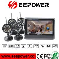 Buy cheap 4 Channel Quad Wireless DVR Security System With 15m Night Vision Range from wholesalers