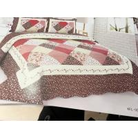 Imitated Patchwork Home Bed Quilts Brown Color Widely In Home Bedding