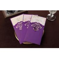 Buy cheap Purple Strong Paper Greeting Card Off Printing 10 * 20cm OEM from wholesalers