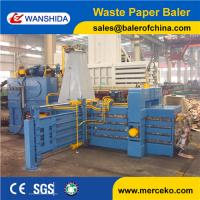 Buy cheap China CE Certification Horizontal Waste Cardboard Baling Press Baler Compactor Machine product