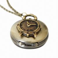 Buy cheap Charming Antique Gold Pocket Watch with Necklace from wholesalers