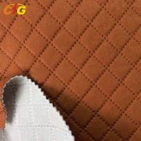 Buy cheap laminated  Embossed Fabric with Brushed Fabric for Car Seat / Sofa / Furniture product