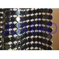Buy cheap Black Interior Metal Fabric Cloth , ​Lightweight Metal Mesh Fabric Curtain from wholesalers