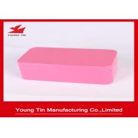 Buy cheap Pink Plain Color Printed Empty Metal Cosmetic Packaging Tins 0.23 MM Tinplate Material from wholesalers