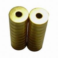 Buy cheap Gold-plated Ring Magnets, Various Grades and Sizes are Available product